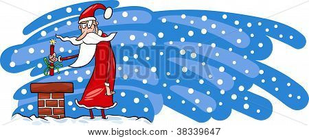 Bad Santa Claus Cartoon Card