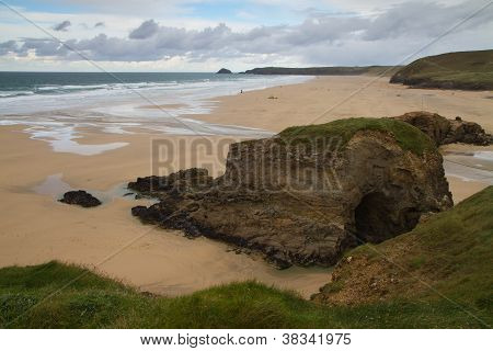 Perranporth in North Cornwall England UK about  6 miles from Newquay and Truro