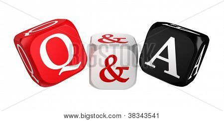 Questions And Answers Red White Black Dice