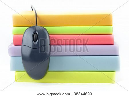 Colored Books With Mouse