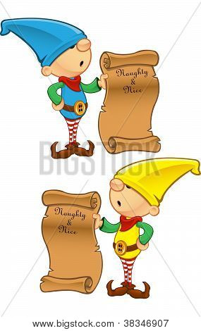 Elf Mascot - Naughty Or Nice List
