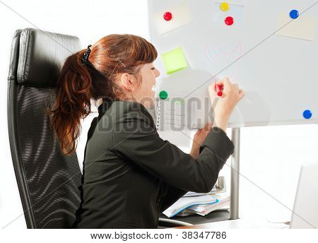 Business Lady Drawing