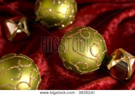 Bright Green Christmas Balls