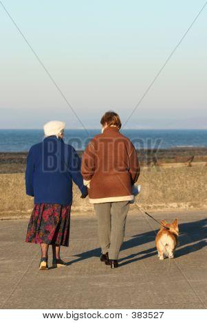 Senioren entspannenden