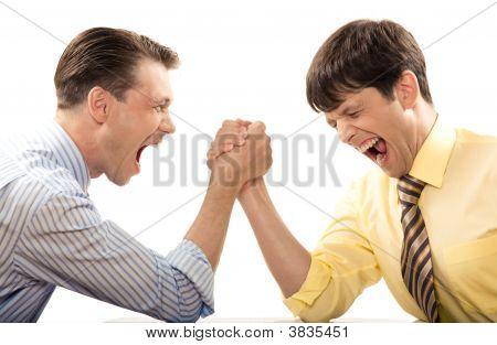 Grito durante la lucha