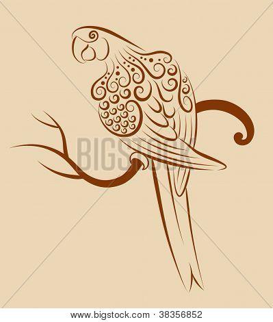 Bird ornament 4 (parrot)