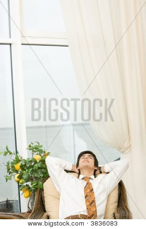 Resting Businessman