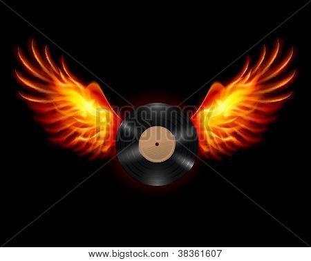 Flying Vinyl record