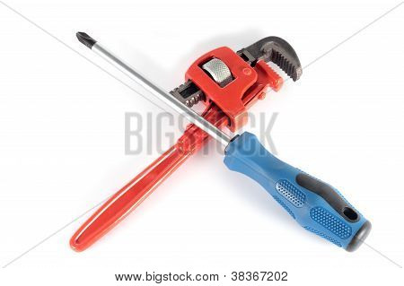 Screwdriver And Adjustable Wrench
