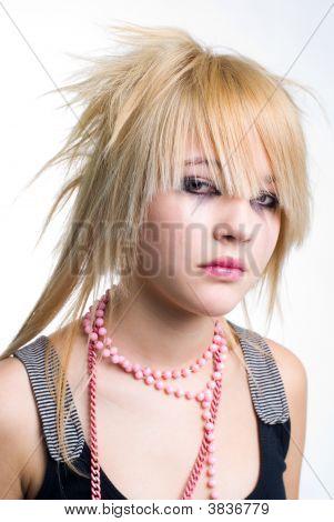 Crying Emo Girl Portrait