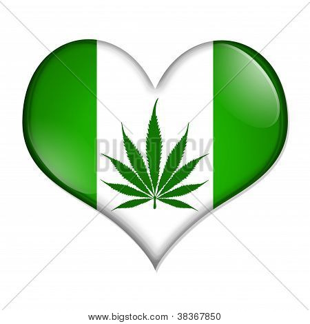 Love Marijuana Button