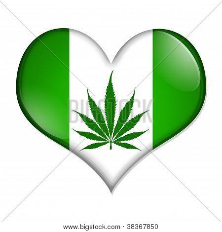 Love Marijuana Button