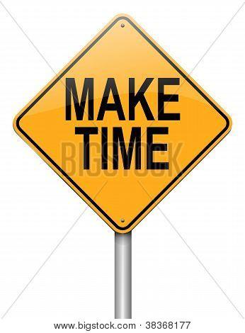 Make Time Concept.