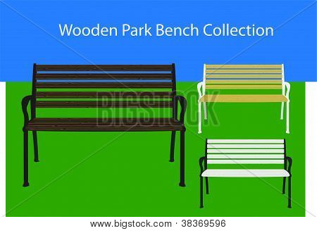 Wooden Park Bench Collection