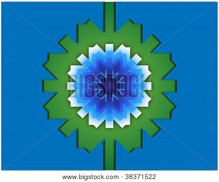 Background Green Snowflake