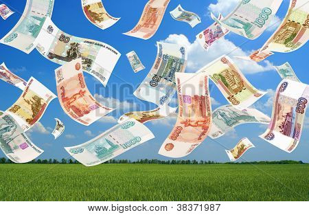 Falling Roubles (field Background)