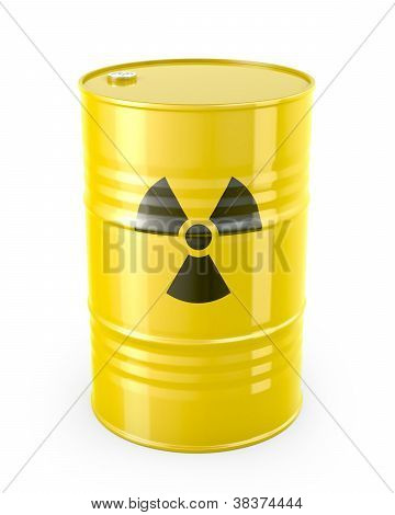 Barrel With Radioactive Symbol