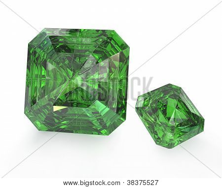Two Green Emeralds