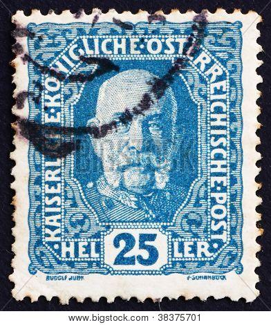 Postage stamp Austria 1916 Franz Josef, Emperor of Austria