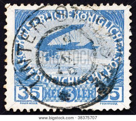 Postage stamp Austria 1915 Airplane