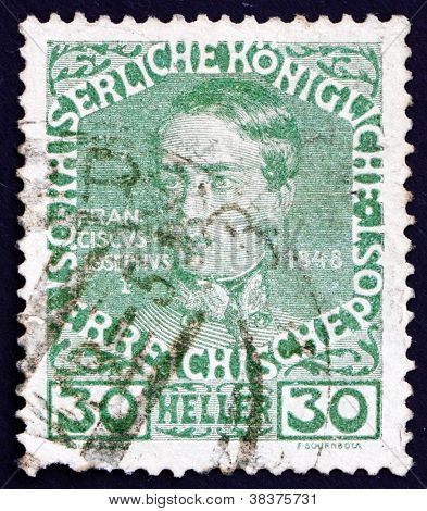 Postage stamp Austria 1913 Franz Josef as Youth, Emperor of Austria