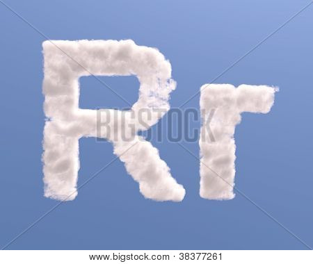 Letter R Cloud Shape