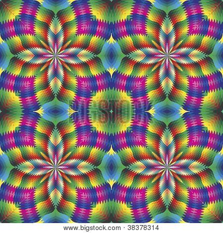 Mosaico arabesco em estilo art deco
