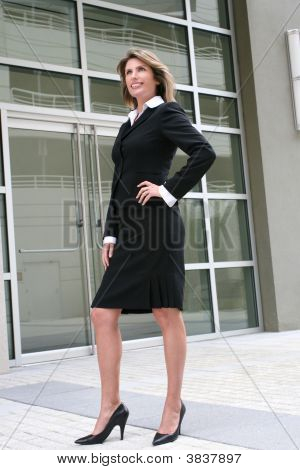 Business, Corporate Woman Outdoors