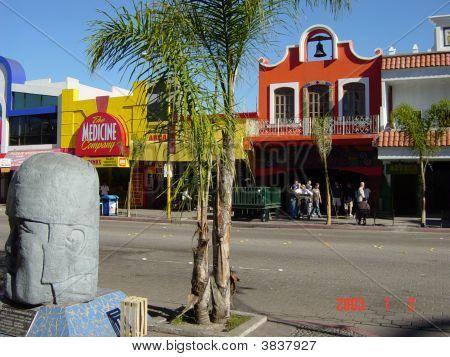 downtown Tijuana Mexico street scene