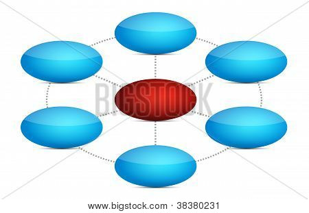 Blue And Red Diagram