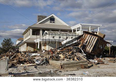 Furacão destruição de Sandy