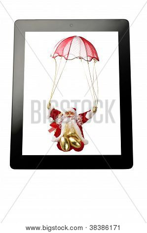 tablet with Santa Claus
