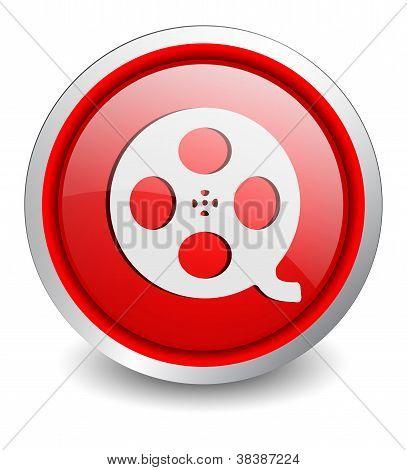 film red button - design web icon