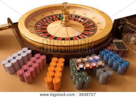 Gold Roulette Wheel