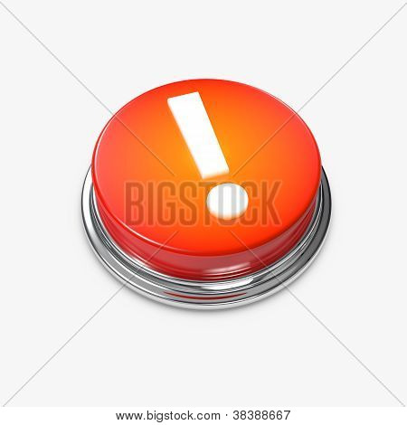 Alert Button Exclamation Mark Glowing