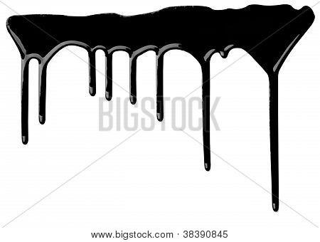 black Paint Leaking Art