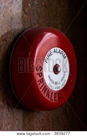 Red Fire Alarm Bell