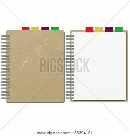 Rice Paper Cut Brown Blank Note Book