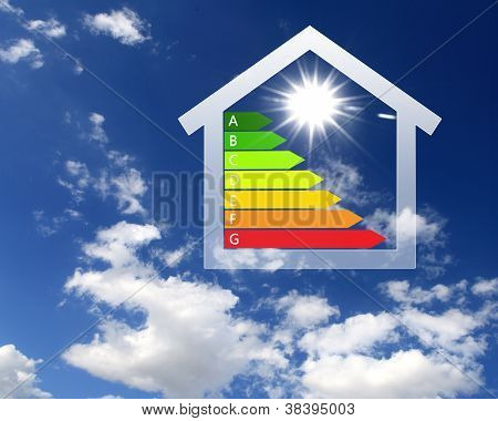 Colourful house against nature background