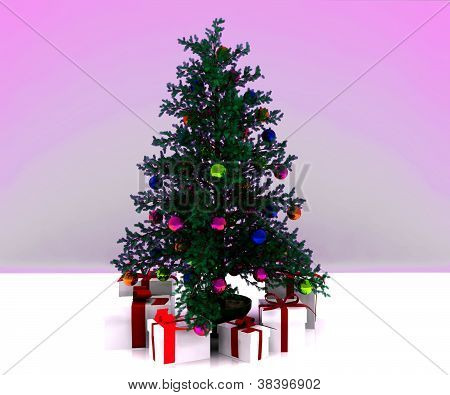 Christmas Background - 3D