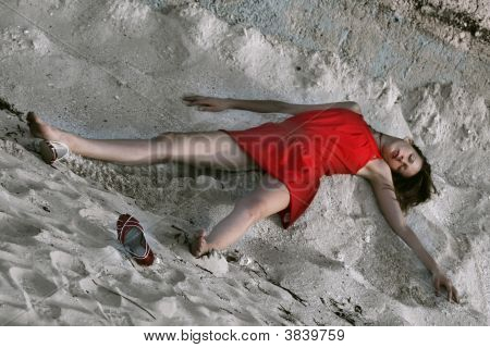 Crime Scene On The Beach