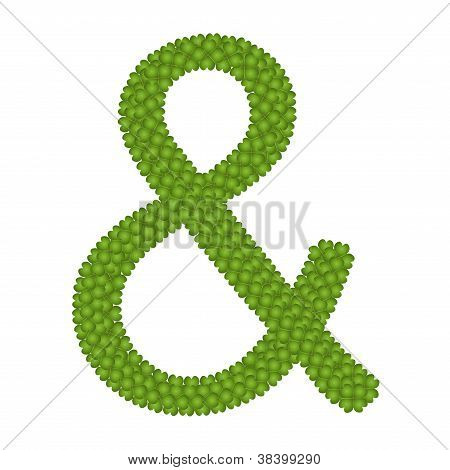 A Four Leaf Clove Of Ampersand Symbol