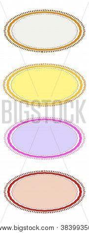Brown, Red, Pink and Yellow of Circle Frames for Design