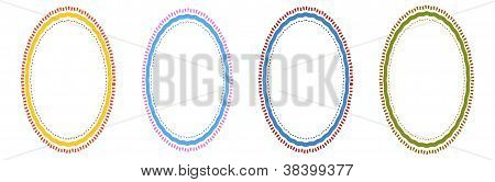 Green, Blue, Light Blue and Yellow of Circle Frames for Design
