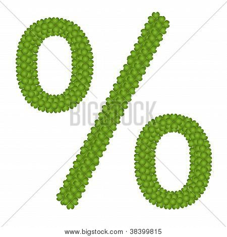 A Four Leaf Clove Of Percentage Sign