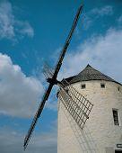 Windmill Under Blue  Skies poster