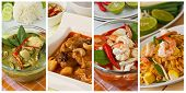 stock photo of thai cuisine  - Collage photos of popular Thai food  - JPG