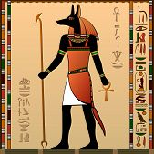 stock photo of anubis  - Ancient Egypt - JPG