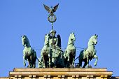 Brandenburg Gate Quadriga In Berlin