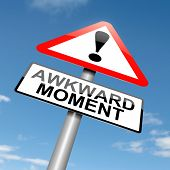 stock photo of embarrassing  - Illustration depicting a roadsign with an awkward moment concept - JPG